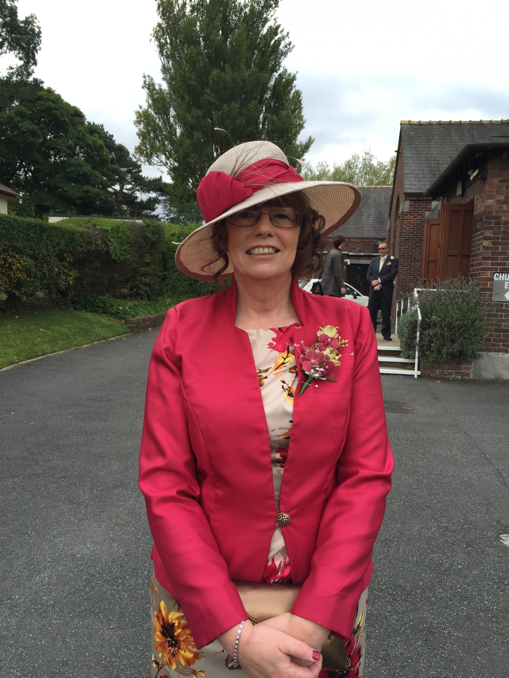 bespoke mother of the bride hat for lynne